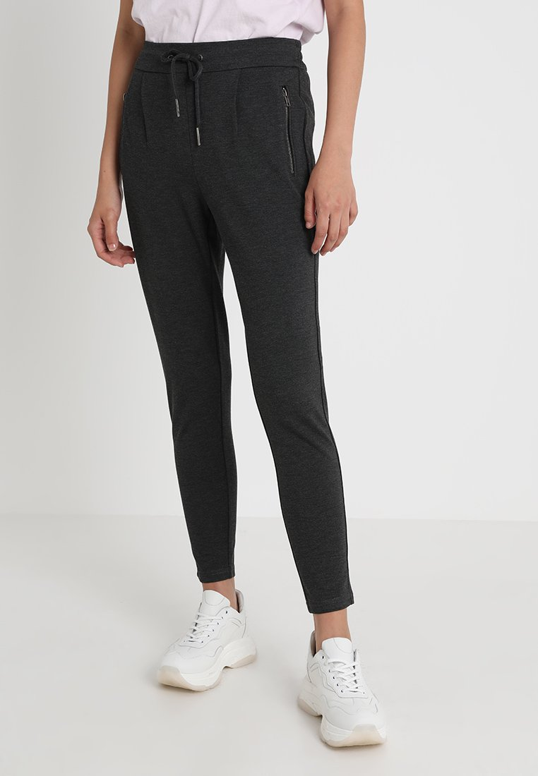 Noisy May - NMPOWER ZIPPER PANT  - Teplákové kalhoty - dark grey melange
