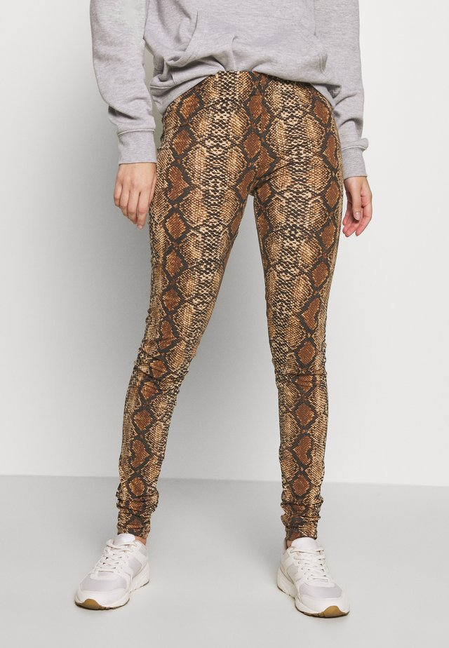 NMANILLA - Leggings - black/brown