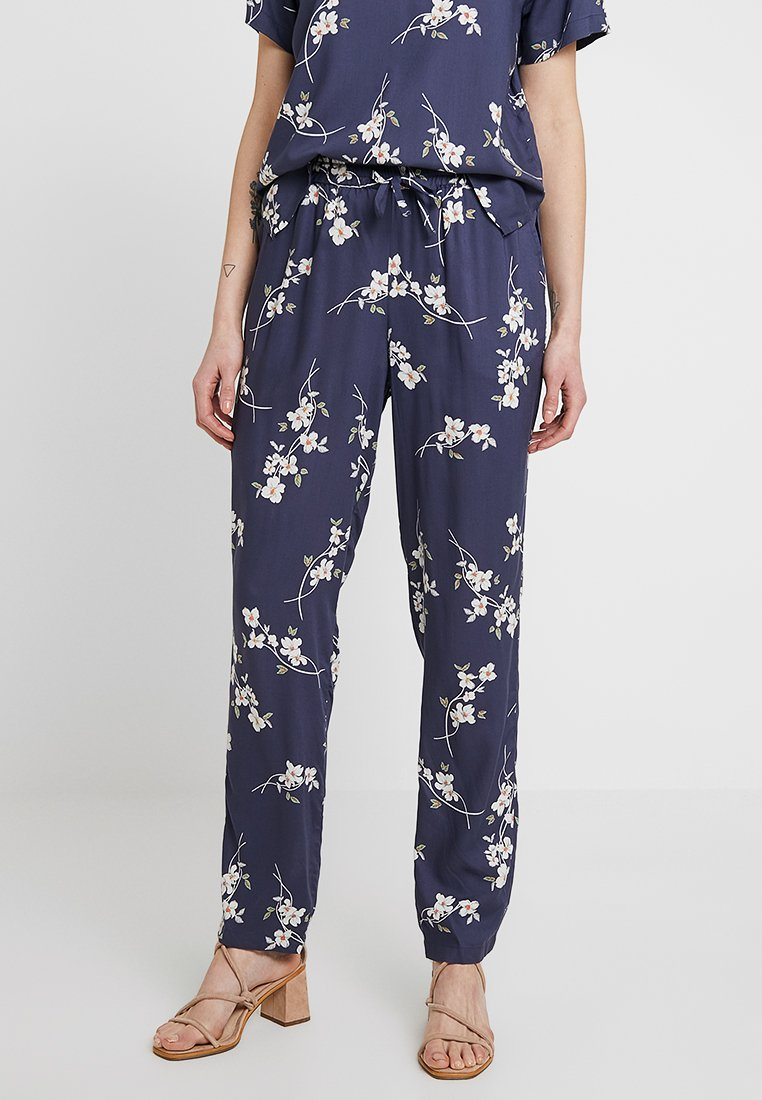Noisy May - NMMAGIC VISCOSE PANTS  - Trousers - ombre blue/flowers