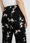 Noisy May - NMMAGIC VISCOSE PANTS  - Stoffhose - black/flowers