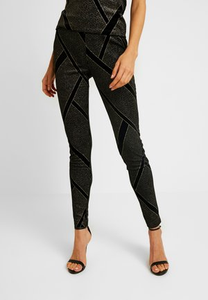 Leggings - Trousers - black/gold