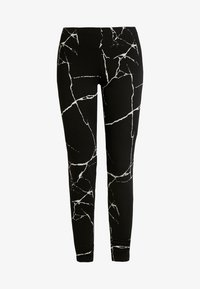 Noisy May - NMKERRY MARBLE  - Leggings - Trousers - black/white - 3