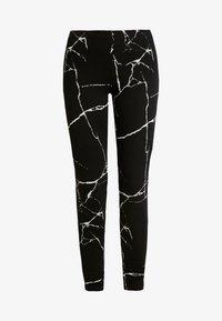 Noisy May - NMKERRY MARBLE  - Leggings - Hosen - black/white - 3