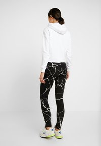 Noisy May - NMKERRY MARBLE  - Leggings - Trousers - black/white - 2