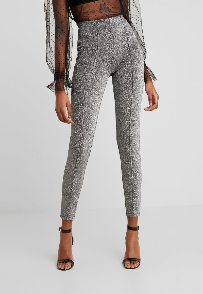 Noisy May - NMRAMONE  - Legging - black/silver