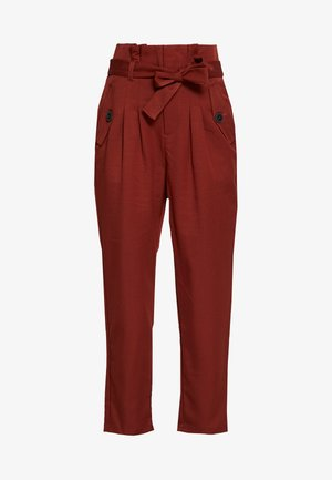 NMROBERT PANT - Trousers - burnt henna