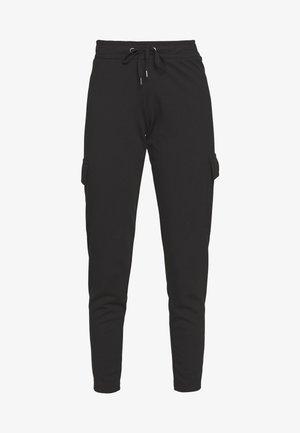 NMSEJLA CARGO - Pantalon de survêtement - black