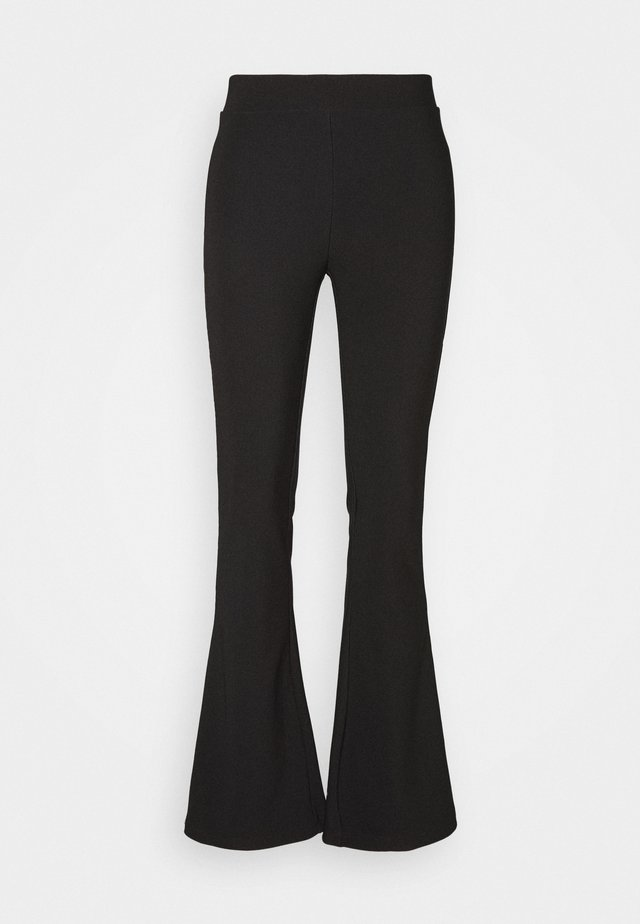 NMBILLIE FLARED PANTS - Pantalon classique - black