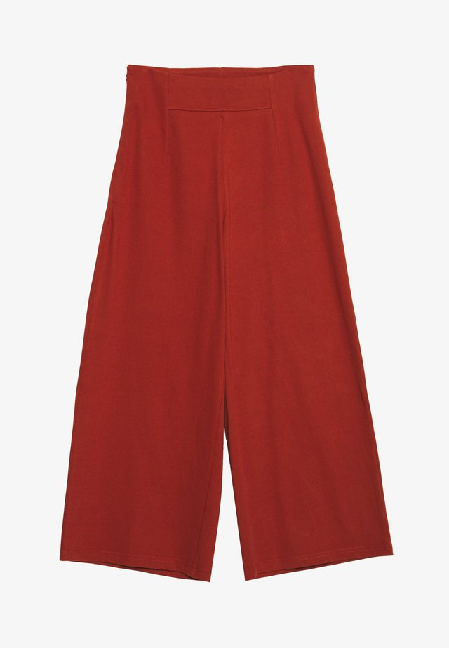 NMBALE LOOSE CULOTTE PANT - Stoffhose - burnt henna