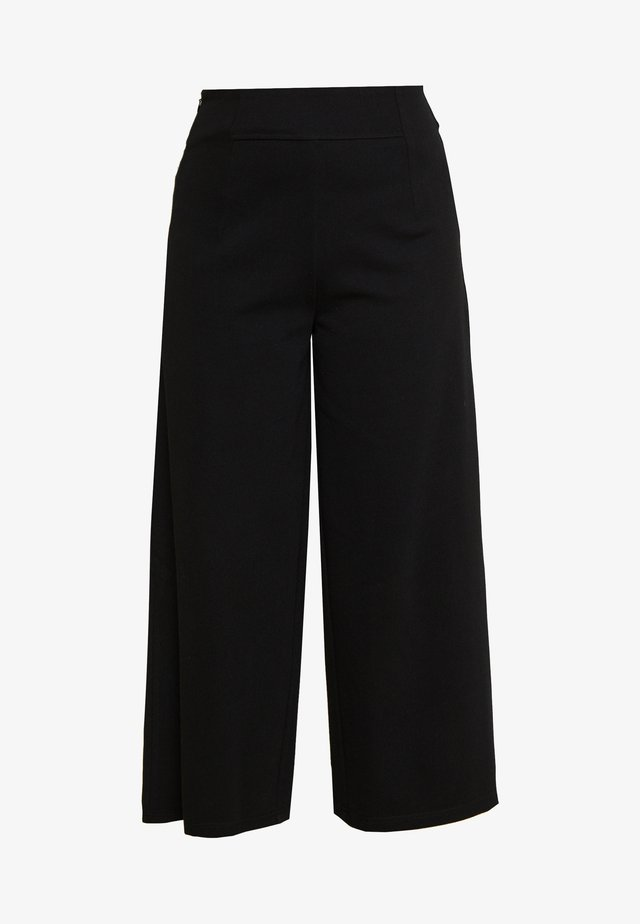 NMBALE LOOSE CULOTTE PANT - Tygbyxor - black