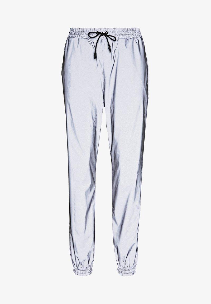 Noisy May - NMRANDY REFLEX PANT - Trousers - silver