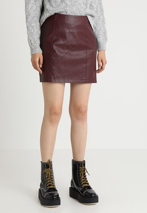 NMREBEL SKIRT - Mini skirt - port royale