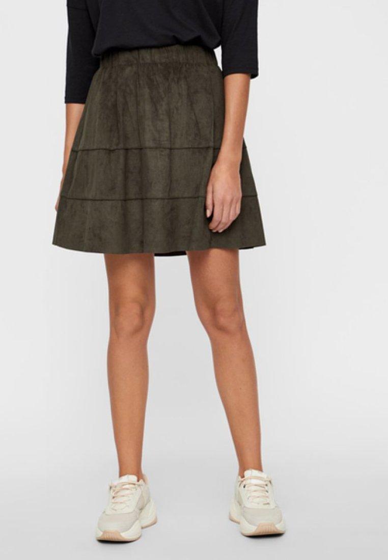 Noisy May - NMLAUREN  - A-line skirt - olive