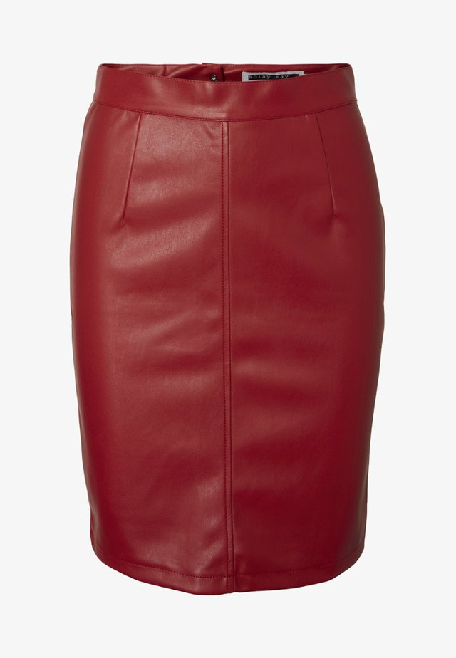 NMPENNY - Pencil skirt - flame scarlet