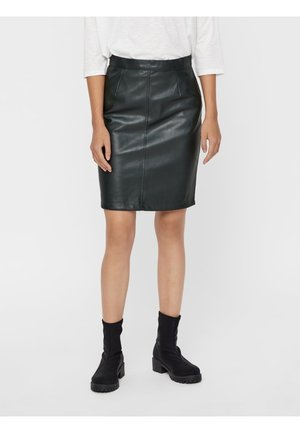 NMPENNY - Pencil skirt - dark green