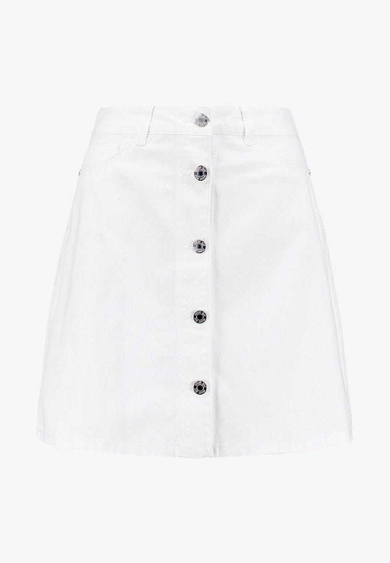 NMSUNNY SHORT SKATERSKIRT Jupe trapèze bright white