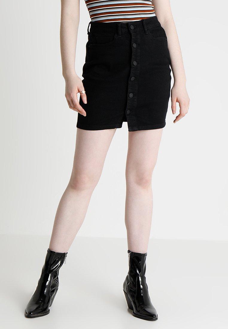 Noisy May - LUCY SKIRT - Spódnica jeansowa - black
