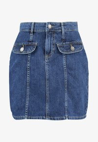 Noisy May - NMSONJA SHORT SKIRT - Falda de tubo - dark blue denim - 3