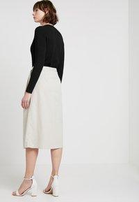 Noisy May - NMLINE LONG SKIRT - A-line skirt - oatmeal - 2