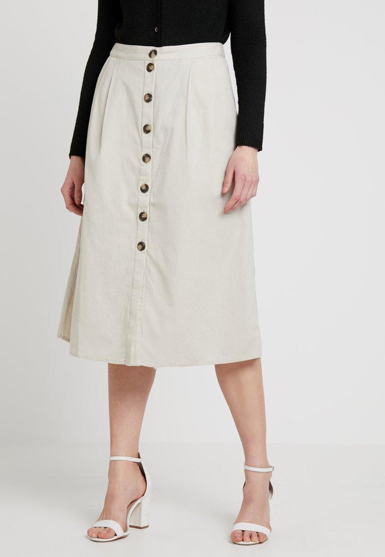 Noisy May - NMLINE LONG SKIRT - A-line skirt - oatmeal