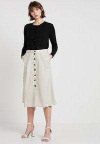 Noisy May - NMLINE LONG SKIRT - A-line skirt - oatmeal - 1