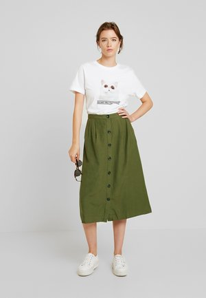 A-line skirt - winter moss