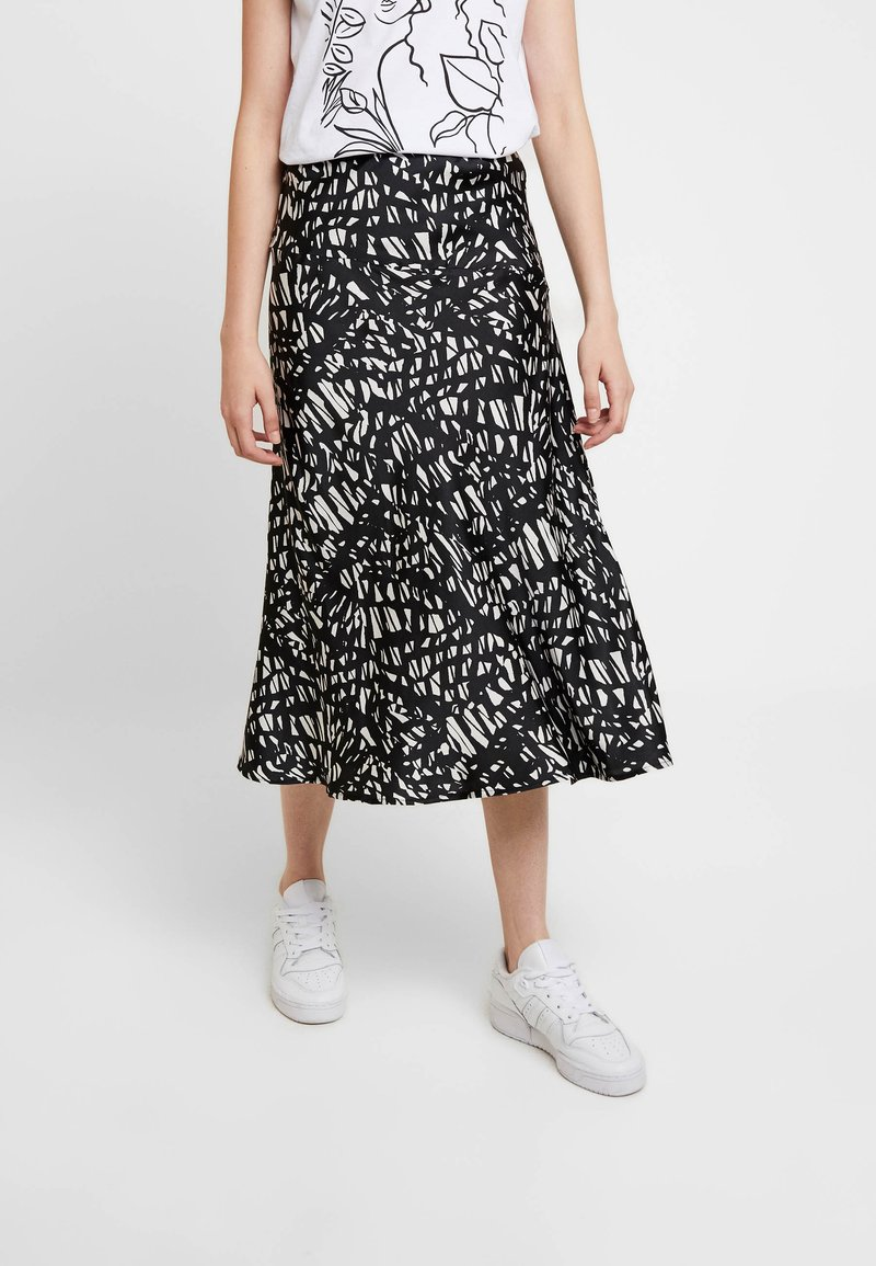 Noisy May - NMSANNY SKIRT - A-Linien-Rock - black/white