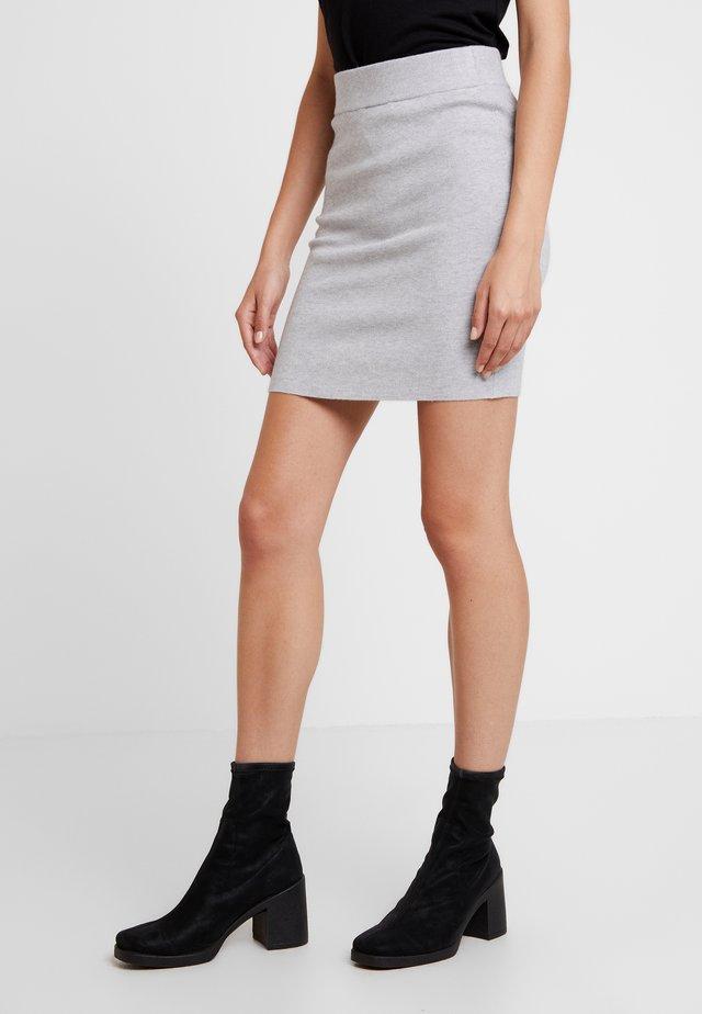 Mini skirt - light grey melange