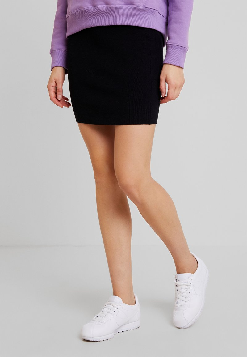 Noisy May - NMSHIP SKIRT - Minirock - black