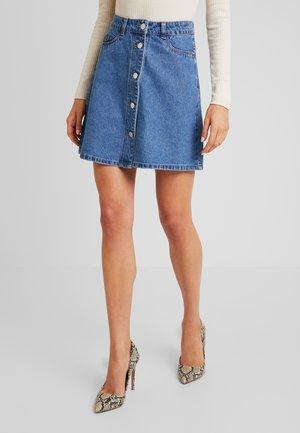 Spódnica mini - medium blue denim