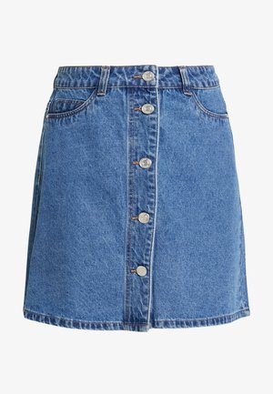 Minijupe - medium blue denim