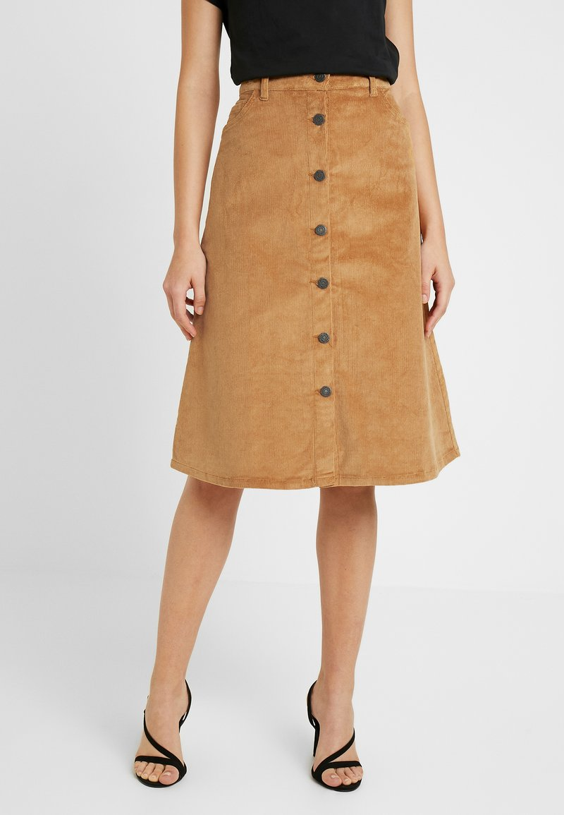 Noisy May - NMSUNNY MIDI SKATER SKIRT - A-line skirt - brown sugar