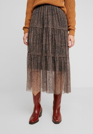 NMSHIMMY LONG SKIRT - Maxi skirt - brown sugar