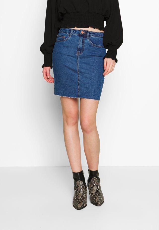CALLIE SHORT SKIRT  - Denim skirt - medium blue denim