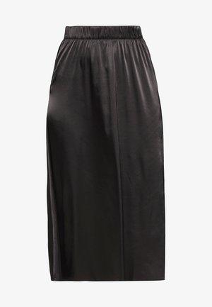 NMJULLE LONG SKIRT - A-line skjørt - black