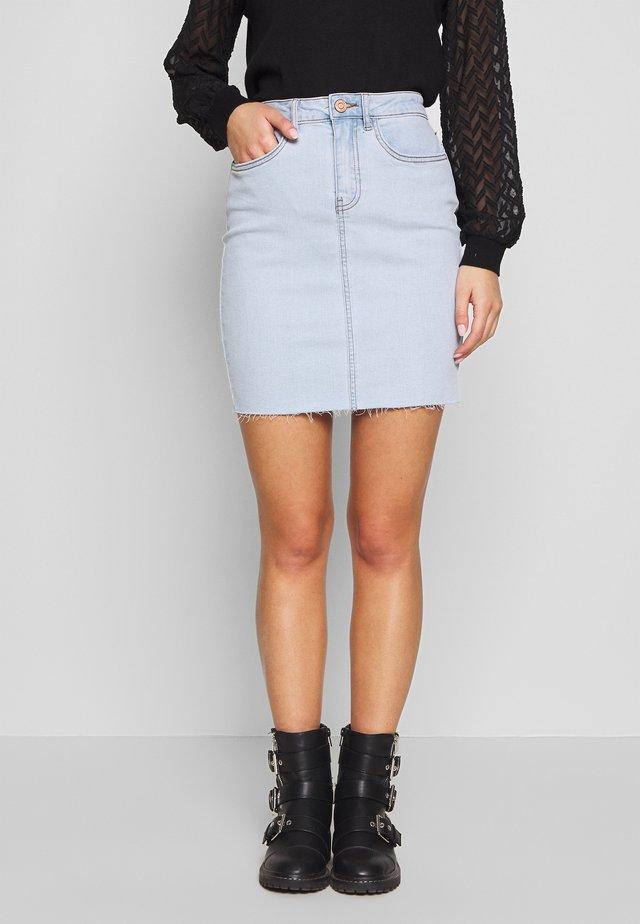 CALLIE SHORT SKIRT  - Denim skirt - light blue denim