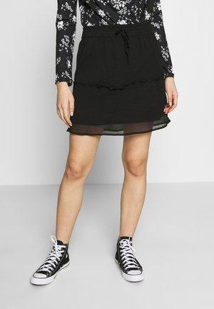 NMJUST SKIRT - A-line skirt - black