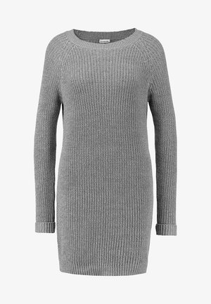 NMSIESTA O-NECK DRESS - Vestido de punto - medium grey melange