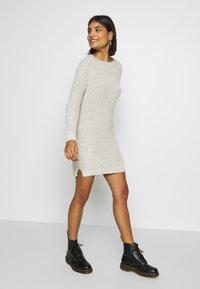 Noisy May - NMSIESTA O-NECK DRESS - Jumper dress - oatmeal - 0
