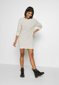 Noisy May - NMSIESTA O-NECK DRESS - Jumper dress - oatmeal - 1