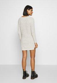 Noisy May - NMSIESTA O-NECK DRESS - Jumper dress - oatmeal - 2