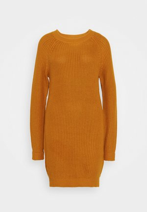 NMSIESTA O-NECK DRESS - Gebreide jurk - inca gold