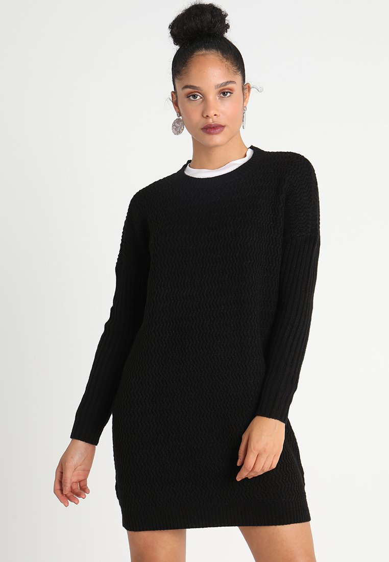 Noisy May - NMMETTE O-NECK - Jumper dress - black