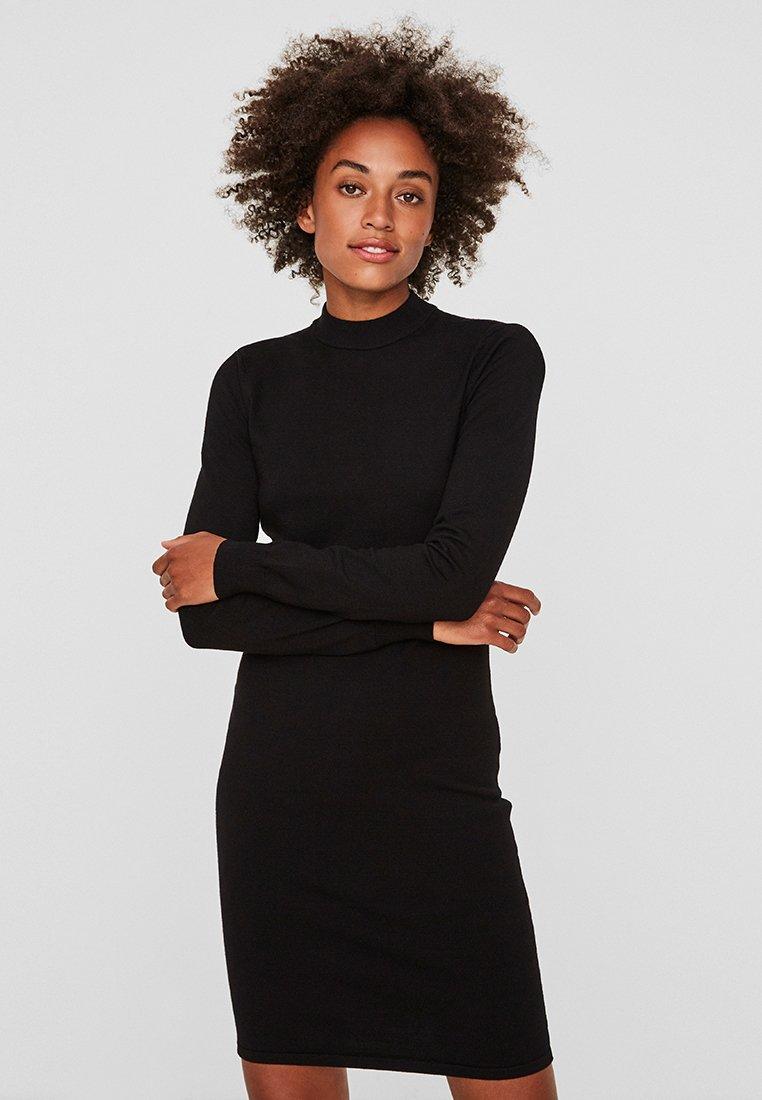 Noisy May - NMCIRUS FUNNEL NECK DRESS - Shift dress - black