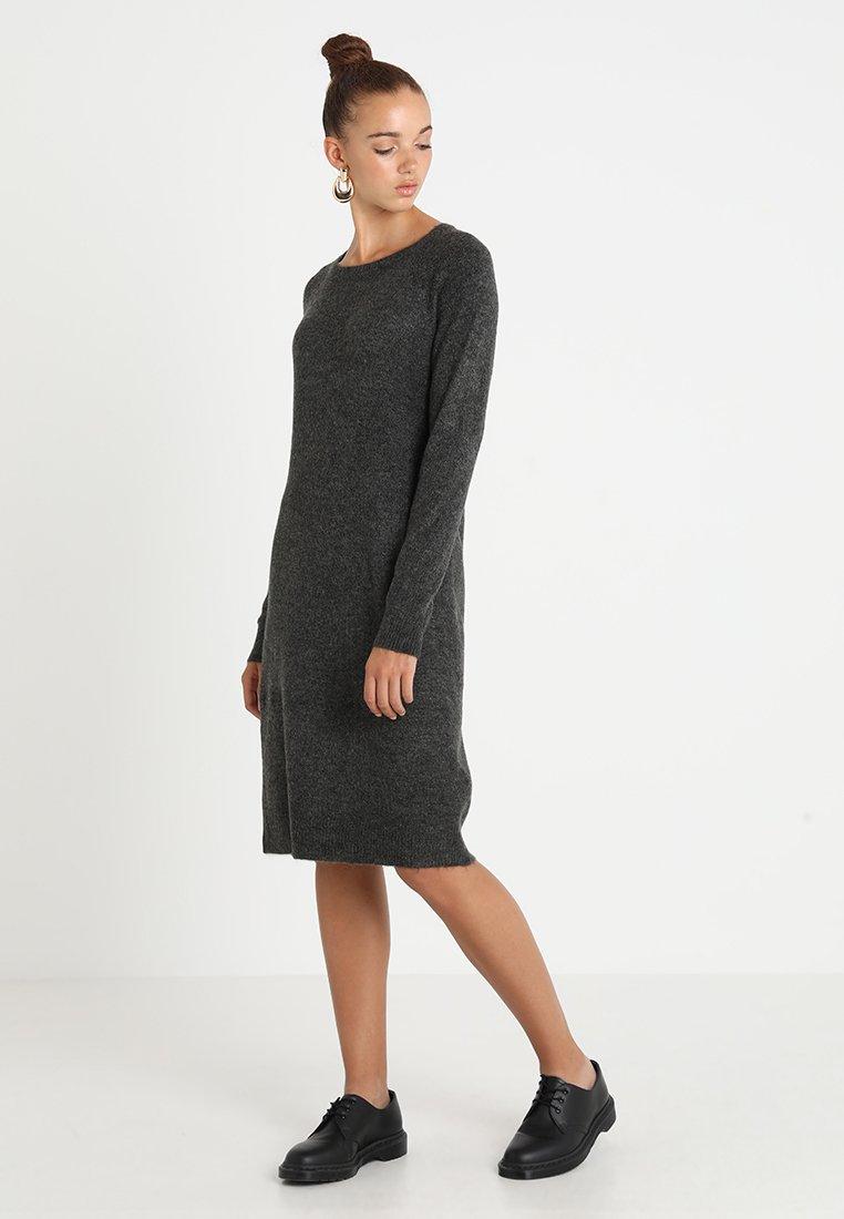 Noisy May - NMMILES ONECK DRESS  - Strickkleid - dark grey melange