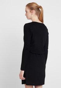 Noisy May - NMCITY SHORT DRESS - Stickad klänning - black - 3