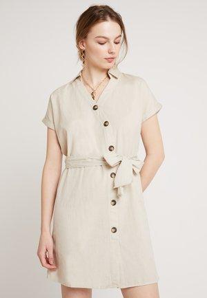 NMLINE BUTTONS DRESS  - Skjortekjole - oatmeal