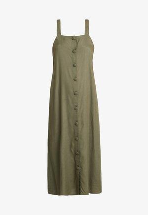 NMSARA BUTTON DRESS - Vestido camisero - kalamata