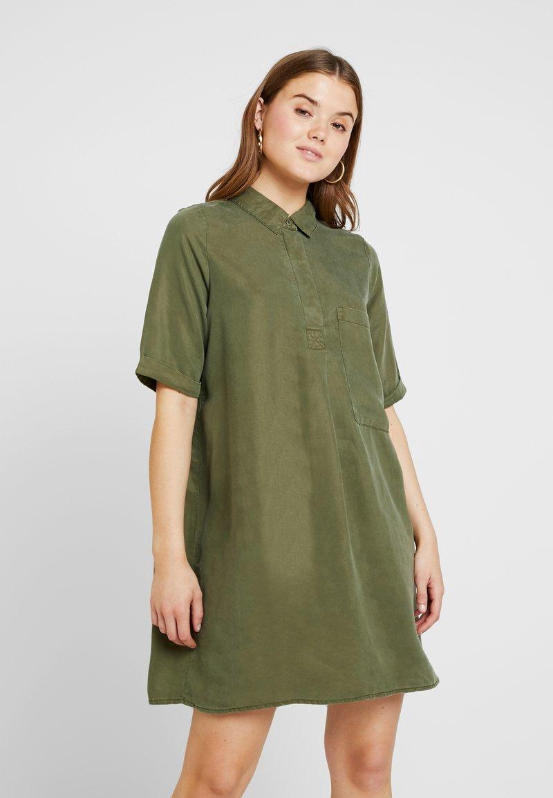 Noisy May - NMCARLY ENDI DRESS - Shirt dress - winter moss
