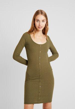 Korte jurk - winter moss